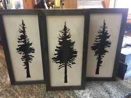 wooden pine tree wall laser cut wood tree wall decor mountain home center lake tahoe