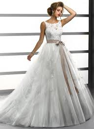 bateau lace wedding dress gown bateau lace tulle wedding dress with sash buttons