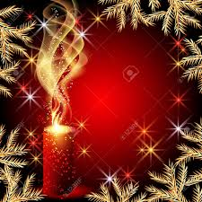 christmas background with candles and stars royalty free cliparts