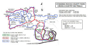 Map Of Wisconsin State Parks by Standing Rocks County Park Wisconsin Trail Guide