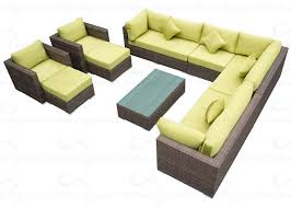 Outdoor Sofa Bed Sofa Furniture 9 Pieces Sectional Rattan Sofa Lounge Sets Garden