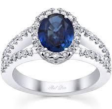 engagement rings sapphires images Split shank oval blue sapphire halo engagement ring jpg