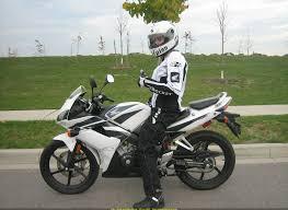 honda cbr125r sportbike rider picture website