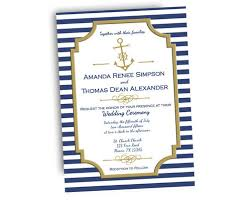 nautical wedding invitations navy and gold nautical wedding invitations party print