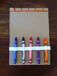 a childhood list 95 cereal box notebook with crayon holder