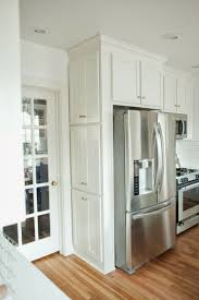 how to make your fridge look like a cabinet refrigerator surround cabinet how to make your fridge look like a