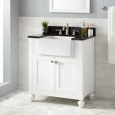 White Freestanding Bathroom Furniture by White Freestanding Sink Vanity Signature Hardware