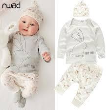 3 pcs set 2016 new baby boy clothes toddler bunny clothing