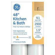 ge 40 watt t12 kitchen and bath lfl light bulb 2 pack target