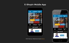 e shop in a mobile app flat bootstrap responsive web template
