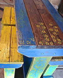 Design For Wooden Picnic Table by Wooden Outdoor Picnic Table Paint Distressed White Google Search