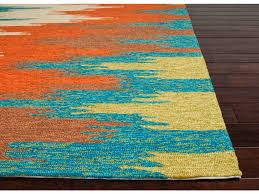 Orange Outdoor Rug by Orange And Turquoise Area Rugs Creative Rugs Decoration