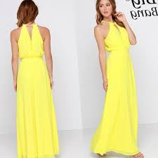 yellow plus size maxi dress pluslook eu collection