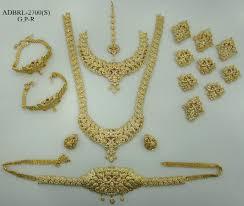 wedding jewellery sets gold adbrl2700gpr american diamond grand bridal jewellery set buy
