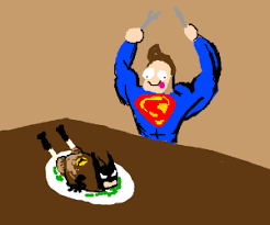 the justice league has thanksgiving dinner