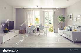 modern living room interior design 3d stock illustration 316503179