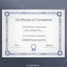 elegant certificate of completion template vector free download