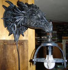outofgameauction beautiful dragon lamp