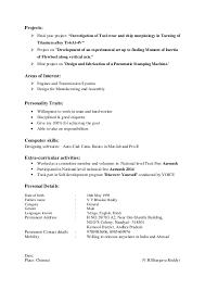 Resume For Manufacturing Bhargav Resume For Mech June 1