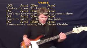 the thanksgiving song adam sandler bass guitar cover lesson with
