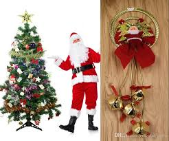 new arrivals santa claus bell tree decorations promotion
