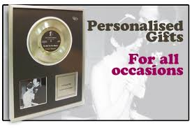 Personalized Record Album Gold Discs U0026 Records Personalised Novelty Music Gifts To Buy