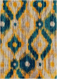 Modern Ikat Rug Rocambolesco Blue Modern Ikat Rug Well Woven