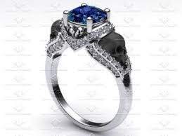 black sapphire engagement rings sapphire studios skull engagement rings sapphire studios
