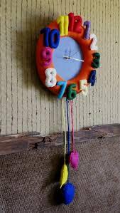 nursery wall clock felt wall decor baby shower gift nursery art