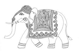 14 images of painted indian elephants coloring page indian