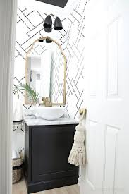 the new gold arched mirror is here white vessel sink black