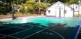 Basketball Court In The Backyard Home Sport Court Michigan