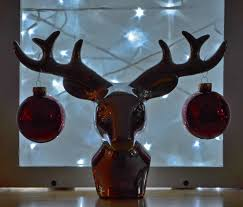 Christmas Decorations Reindeer Lights by Free Images Table Glass Deer Red Lighting Toy Material