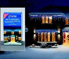 snowing icicle outdoor lights premier snowing icicle led christmas supabrights gardensite co uk