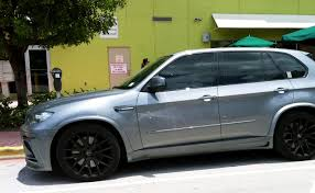 Bmw X5 Black - gray bmw x5 m with black rims exotic cars on the streets of miami