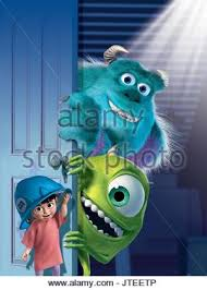 sulley mike u0026 boo monsters monsters 2001 stock photo