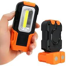 battery powered work lights portable led work light 200 lumens multi use cob flashlight