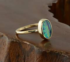 black opal 14k gold black opal ring u2013 point no point studio
