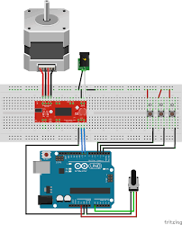 switching power to stepper motor drive using relay and arduino