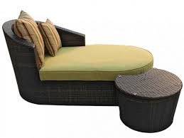 patio 40 chaise lounge chair with brown and white cushion