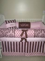 Pink And Brown Damask Crib Bedding Pink And Brown Crib Bedding Icedteafairy Club