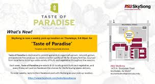 Map Of Scottsdale Arizona by Taste Of Paradise At Skysong Asu Events