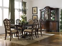 beautiful cherry dining room table chairs and cabinet decoration