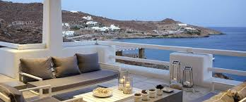mykonos sea front villa rent a luxury holiday villa paranga