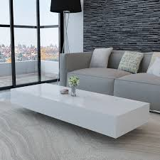 High Coffee Tables White White High Gloss Coffee Table 115 Cm Lovdock