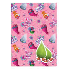 wrapping paper sheets trolls 2 sheets of gift wrap and 2 gift tags co uk