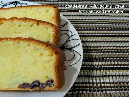 the batter baker condensed milk pound cake the real sara lee