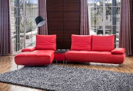 Modern Italian Leather Sofa 941 Contemporary Red Italian Leather Sectional Sofa