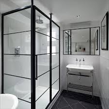 Frame Shower Door Black Frame Showers Sophisticated With Modern Industrial Flair