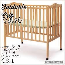 wooden foldable crib babies u0026 kids prams u0026 strollers on carousell